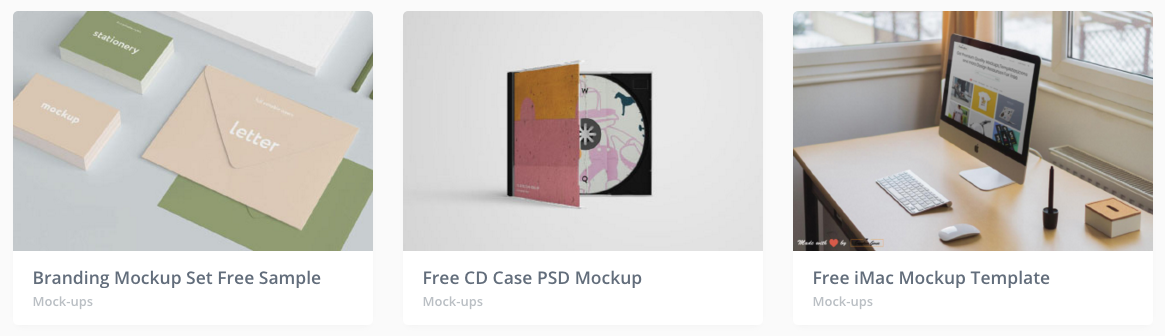 Mockup's - Free Design Resources